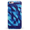 50 Shades of Blue Geometric Triangles iPhone 6/6s or 6/6s Plus INK-Fuzed Case