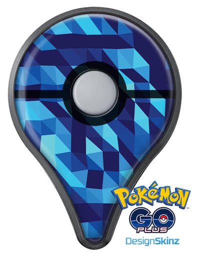 50 Shades of Blue Geometric Triangles Pokémon GO Plus Vinyl Protective Decal Skin Kit