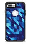 50 Shades of Blue Geometric Triangles - iPhone 7 or 7 Plus Commuter Case Skin Kit