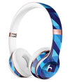 50 Shades of Blue Geometric Triangles Full-Body Skin Kit for the Beats by Dre Solo 3 Wireless Headphones
