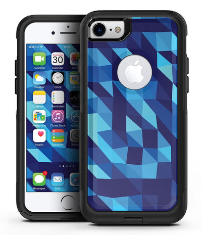 50 Shades of Blue Geometric Triangles - iPhone 7 or 8 OtterBox Case & Skin Kits