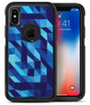 50 Shades of Blue Geometric Triangles - iPhone X OtterBox Case & Skin Kits