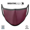 50 Shades of Burgandy Micro Hearts - Made in USA Mouth Cover Unisex Anti-Dust Cotton Blend Reusable & Washable Face Mask with Adjustable Sizing for Adult or Child