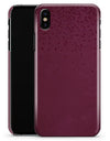 50 Shades of Burgandy Micro Hearts - iPhone X Clipit Case