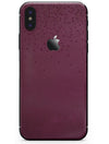 50 Shades of Burgandy Micro Hearts - iPhone X Skin-Kit