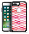 50 Shades of Pink Micro Triangles - iPhone 7 or 7 Plus Commuter Case Skin Kit