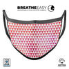 50 Shades of Pink Micro Triangles - Made in USA Mouth Cover Unisex Anti-Dust Cotton Blend Reusable & Washable Face Mask with Adjustable Sizing for Adult or Child