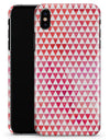 50 Shades of Pink Micro Triangles - iPhone X Clipit Case