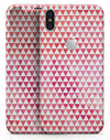 50 Shades of Pink Micro Triangles - iPhone X Skin-Kit