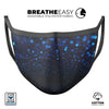 50 Shades of Unflocused Blue - Made in USA Mouth Cover Unisex Anti-Dust Cotton Blend Reusable & Washable Face Mask with Adjustable Sizing for Adult or Child