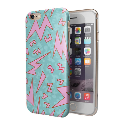 90's Zig Zag iPhone 6/6s or 6/6s Plus 2-Piece Hybrid INK-Fuzed Case