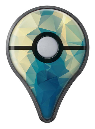 Abstract Aqua and Gold Geometric Shapes Pokémon GO Plus Vinyl Protective Decal Skin Kit