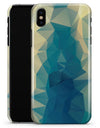 Abstract Aqua and Gold Geometric Shapes - iPhone X Clipit Case