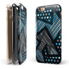 Abstract Black and Blue Overlap iPhone 6/6s or 6/6s Plus 2-Piece Hybrid INK-Fuzed Case