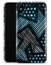 Abstract Black and Blue Overlap - iPhone X Clipit Case