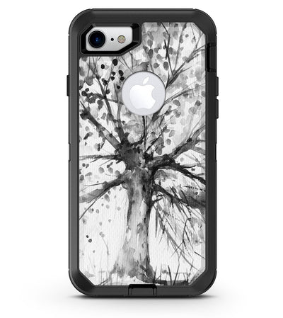 Abstract Black and White WaterColor Vivid Tree - iPhone 7 or 8 OtterBox Case & Skin Kits