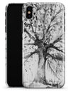 Abstract Black and White WaterColor Vivid Tree - iPhone X Clipit Case