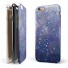 Abstract Blue Grungy Stars iPhone 6/6s or 6/6s Plus 2-Piece Hybrid INK-Fuzed Case
