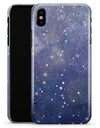Abstract Blue Grungy Stars - iPhone X Clipit Case