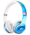 Abstract Blue Stroked Watercolour Full-Body Skin Kit for the Beats by Dre Solo 3 Wireless Headphones
