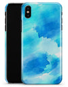 Abstract Blue Stroked Watercolour - iPhone X Clipit Case