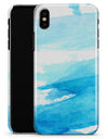 Abstract Blue Strokes - iPhone X Clipit Case