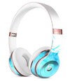 Abstract Blue Watercolor Seagull Swarm Full-Body Skin Kit for the Beats by Dre Solo 3 Wireless Headphones