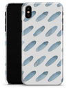 Abstract Blue Watercolor Strokes - iPhone X Clipit Case
