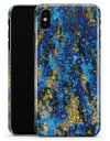 Abstract Blue Wet Paint - iPhone X Clipit Case