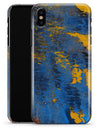 Abstract Blue and Gold Wet Paint - iPhone X Clipit Case
