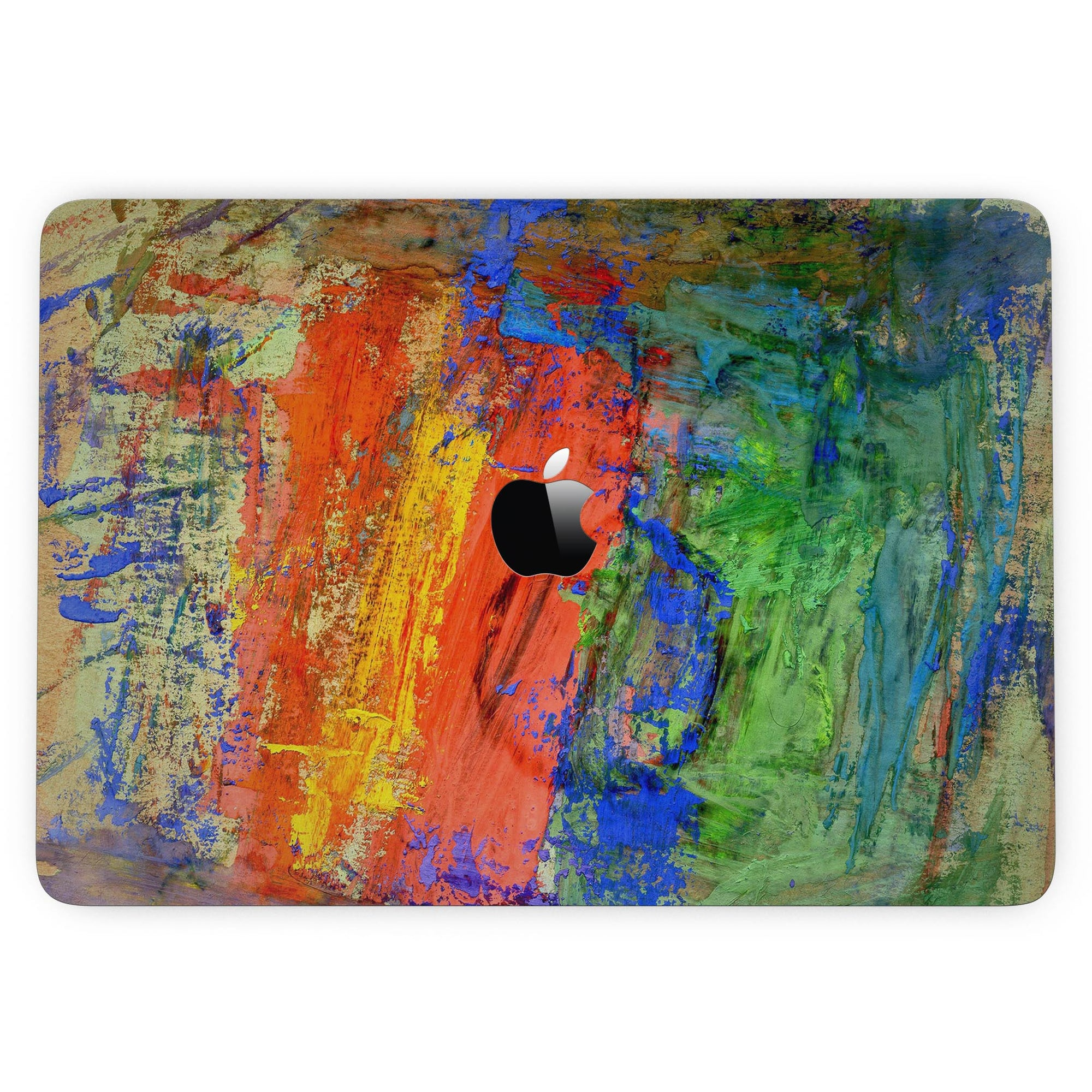 Abstract Bright Primary and Secondary Colored Oil Painting - MacBook Pro  with Touch Bar Skin Kit