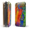Abstract Bright Primary and Secondary Colored Oil Painting iPhone 6/6s or 6/6s Plus 2-Piece Hybrid INK-Fuzed Case