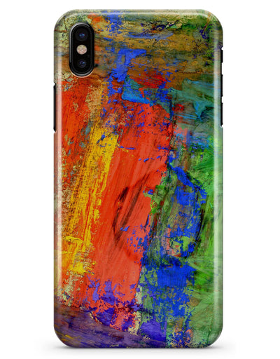 Abstract Bright Primary and Secondary Colored Oil Painting - iPhone X Clipit Case