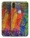 Abstract Bright Primary and Secondary Colored Oil Painting - iPhone X Skin-Kit