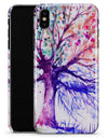 Abstract Colorful WaterColor Vivid Tree V2 - iPhone X Clipit Case