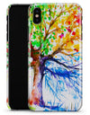 Abstract Colorful WaterColor Vivid Tree V3 - iPhone X Clipit Case