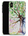 Abstract Colorful WaterColor Vivid Tree - iPhone X Clipit Case