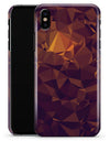 Abstract Copper Geometric Shapes - iPhone X Clipit Case