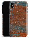 Abstract Cracked Burnt Paint - iPhone X Clipit Case