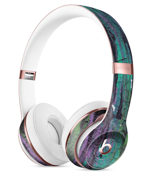Abstract Cracked Green Paint Wall Full-Body Skin Kit for the Beats by Dre Solo 3 Wireless Headphones