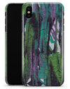 Abstract Cracked Green Paint Wall - iPhone X Clipit Case