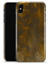 Abstract Dark Gray and Gold Shards - iPhone X Clipit Case