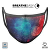 Abstract Fire & Ice V7 - Made in USA Mouth Cover Unisex Anti-Dust Cotton Blend Reusable & Washable Face Mask with Adjustable Sizing for Adult or Child