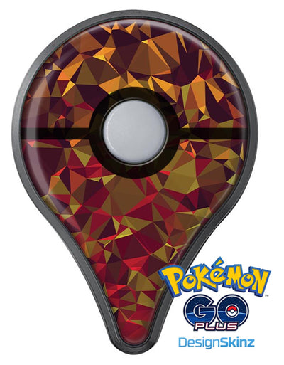 Abstract Geometric Lava Triangles Pokémon GO Plus Vinyl Protective Decal Skin Kit