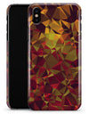 Abstract Geometric Lava Triangles - iPhone X Clipit Case