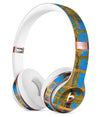 Abstract Gold and Teal Wet Paint Full-Body Skin Kit for the Beats by Dre Solo 3 Wireless Headphones