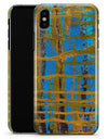 Abstract Gold and Teal Wet Paint - iPhone X Clipit Case