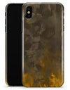 Abstract Golden Fire with Smoke - iPhone X Clipit Case