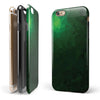 Abstract Green Geometric Shapes iPhone 6/6s or 6/6s Plus 2-Piece Hybrid INK-Fuzed Case