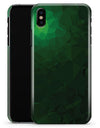 Abstract Green Geometric Shapes - iPhone X Clipit Case